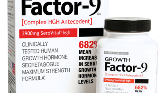 Growth Factor-9 Boost natural HGH by a mean of 682%*