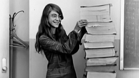 NASA software engineer Margaret Hamilton - She wrote code by hand that was used to take Humanity the moon = 1969