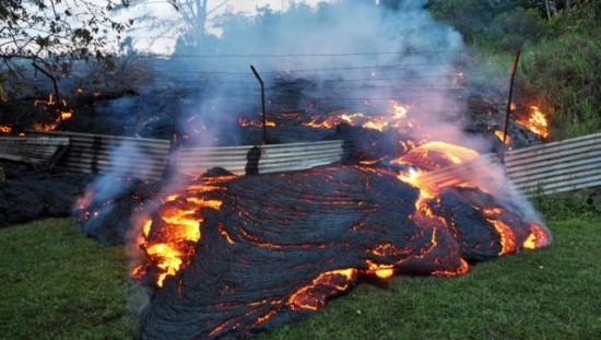 Watch A Man Walk On Lava